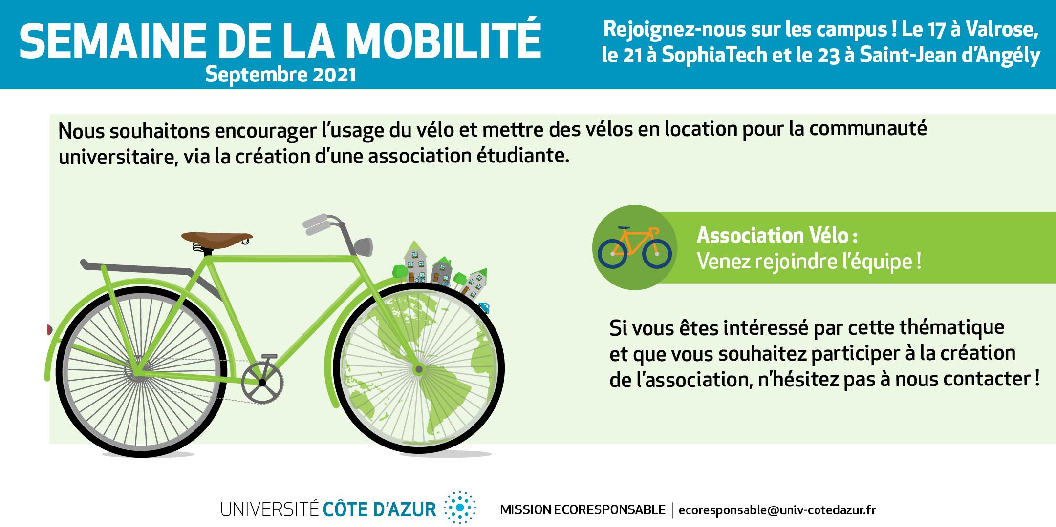 baniere annoncant l'appel à candidature pour constitution d'une asso vélo