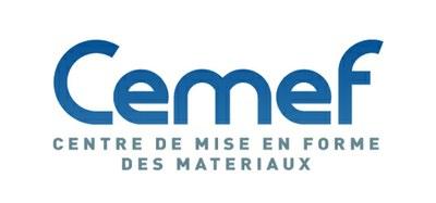 Logo du CEMEF, centre de mise en forme des matériaux,