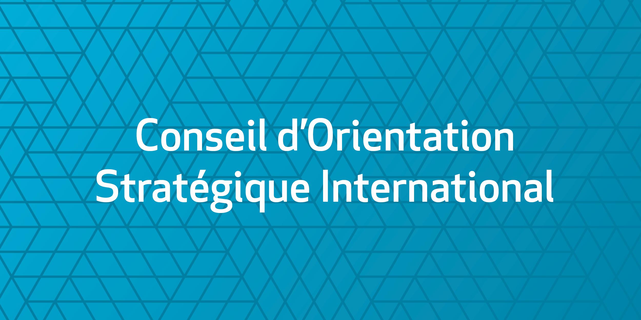 Conseil d'orientation stratégique international