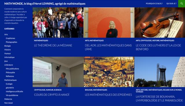 Image page d'accueil blog mathmonde