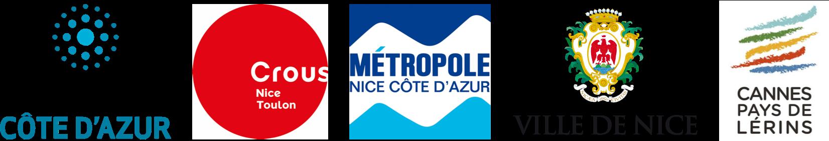 logos des 5 partenaires du territoire azuréen