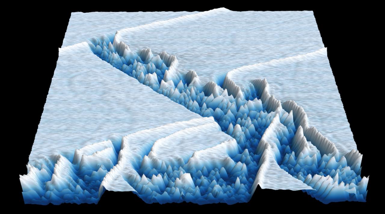 Image d'un robuste paquet d'ondes émergé d'un domaine chaotique dans un laser à semiconducteur