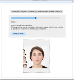 Outil de recadrage de la photo d'identité