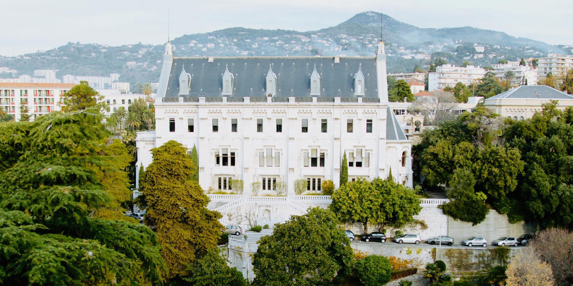 Vue du Grand Château de Valrose